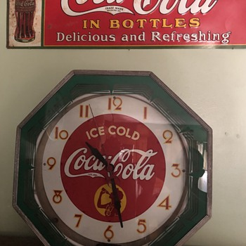 Coca Cola Neon Clock & Sign - Advertising