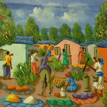 Haitian tourist painting by L. Y. Alaby - Fine Art