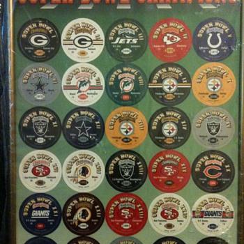 Super Bowl Commemorative Milkcaps-Super Bowl Champions I-XXVIII