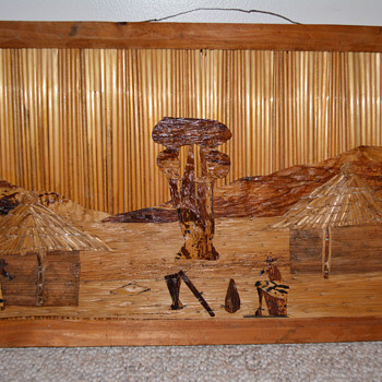 Wood and Straw Folk Art - Folk Art
