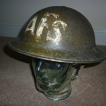 British WW11 Auxiliary Fire Service steel helmet.