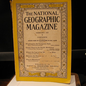 1933 Feb.  National Geographic Magazine number 2 - Paper