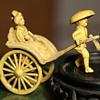Antique / Vintage Plastic / Celluloid Rickshaw with Lady