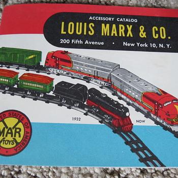 Marx Accessory Catalog form 1952  - Model Trains