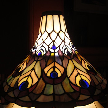 Art Deco Tiffany Style Peacock Lamp Shade - Animals