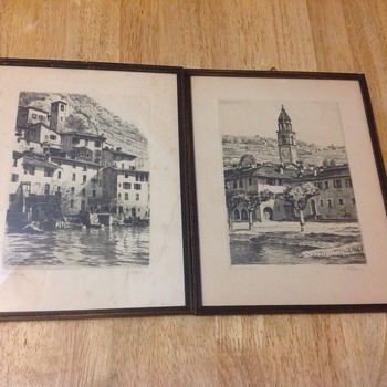 2 small art prints pencil  - Fine Art