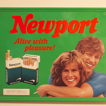 1989 Newport Cigarettes Metal Sign….. - Advertising