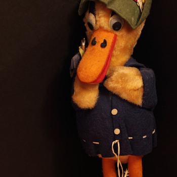 German or Austrian Mohair Duck - 11 inches tall