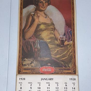 Coca Cola calendar 1928 - Coca-Cola