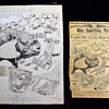Original Willard Mullins pen and Ink illustration for Sporting News