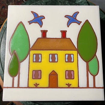 Besheer Art Tile - 'Our House' - Pottery