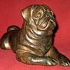 Bronze Pug Sculpture (Not A Pierre Chenet)