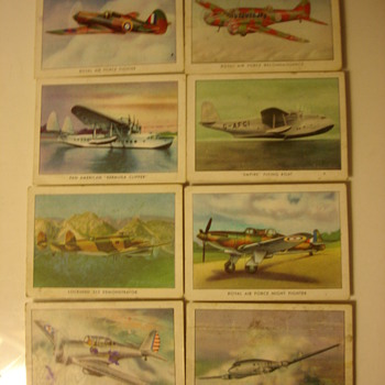 WINGS CIGARETTES MODERN AMERICAN AIRPLANE TRADING CARDS