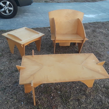 PLEASE HELP I.D. MAKER PLYWOOD FURNITURE - Mid-Century Modern