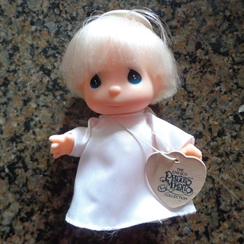"""Enesco 1990 PRECIOUS MOMENTS Collection HI BABIES 5"""" ANGEL DOLL Blonde Toy"""