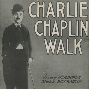 """1915 SHEET MUSIC, """"CHARLIE CHAPLIN WALK""""  CHARLIE ON COVER IN FAMOUS POSE."""