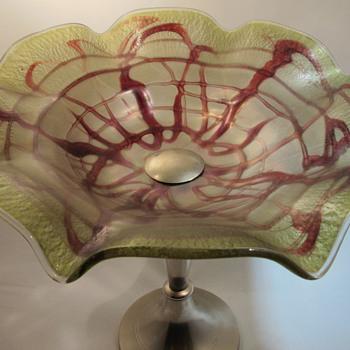 Pallme Konig Iridescent Art Nouveau  - Art Glass