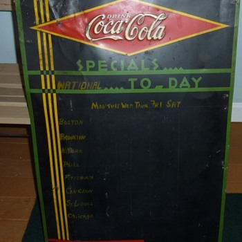 Coke Daily Specials Tin Signs - Coca-Cola