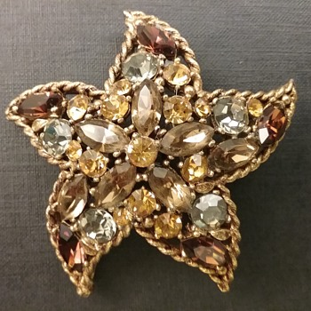 Regency starfish brooch  - Costume Jewelry
