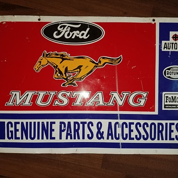 Vintage ford Mustang service sign... maybe - Petroliana