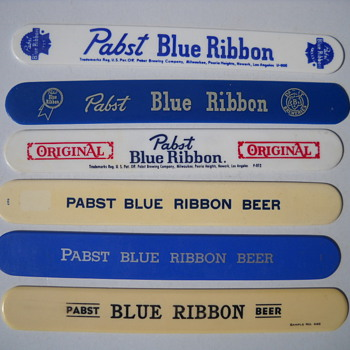 Pabst Blue Ribbon Foam Scrapers - Breweriana