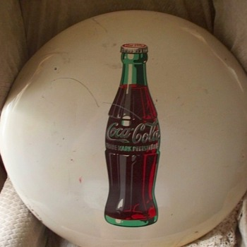 coca cola button sign - Coca-Cola