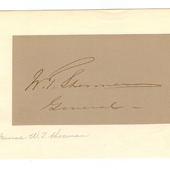 William T. Sherman autographed page. - Military and Wartime