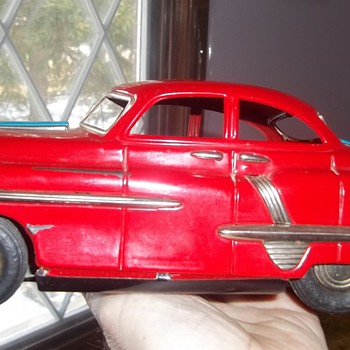 "Vintage 10"" 1950's Toy Tin Friction Car Model Unknow - Model Cars"