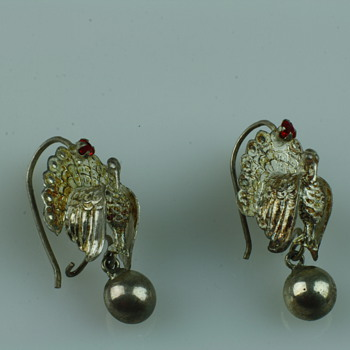 Silver peacock earrings - Fine Jewelry