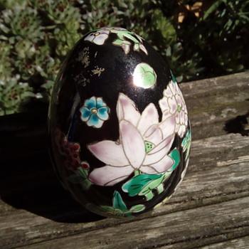 My porcelain and enamel egg