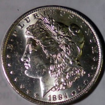 1884 morgan silver dollar - US Coins