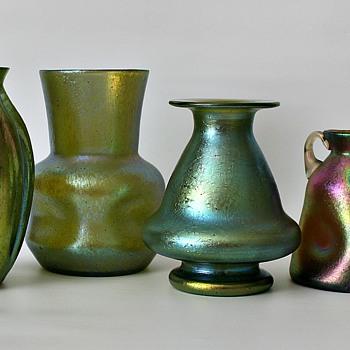 4 Loetz pieces - Art Glass