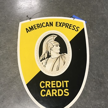 Credit card signs from the  1960's - Signs