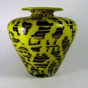 "Loetz Art Deco ""New Diaspora"" Vase - Art Glass"