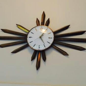 1960's metamec starburst wall clock