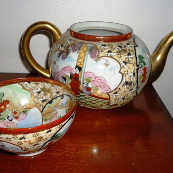 Asian Tea Pot and Tea Cup - Asian