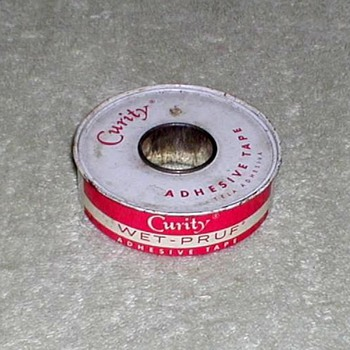 """Curity"" Wet-Pruf Adhesive Tape Tin - Advertising"