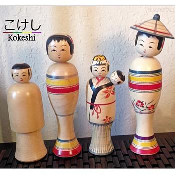 Some of my Favorite Nanbu Kokeshi by Kakuhei Sasaki - Dolls