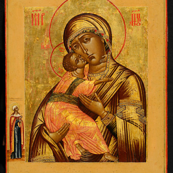 Russian icon of the Vladimir Mother of God.