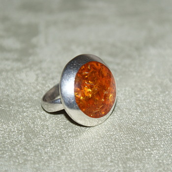 Vintage Amber Ring  - Fine Jewelry