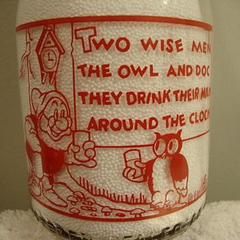 BENSON CO-OP CREAMERY...BENSON MINNESOTA...DISNEY QUART MILK BOTTLE - Bottles