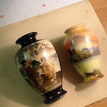 2 individual oriental/Chinese vases - Asian