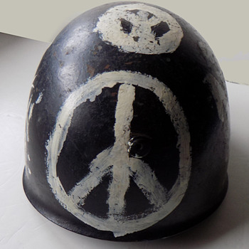 "Original Hippie Era ""Peace Corps"" Protest Helmet - Politics"
