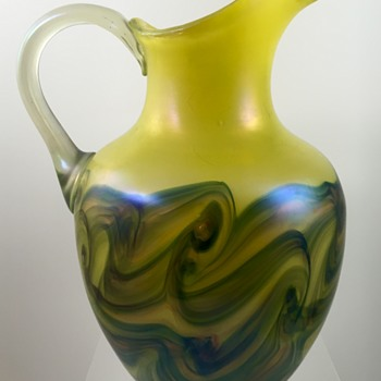 Glasfabrik Schliersee water pitcher, PN 17 (Regenhütte), ca. 1910 - Art Glass