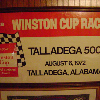 1972 Talladega 500  Autographed by the winner  James Hylton ... - Posters and Prints