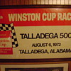 1972 Talladega 500  Autographed by the winner  James Hylton ...