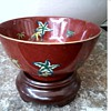 Hong Kong Decorated Tea-Rice Bowl /Enameled Floral and Gilt Decoration/Circa 1970's