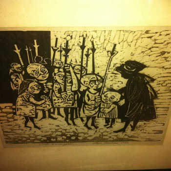 Little Worshippers - Steve Vasiliou - Original Pen and Ink - Posters and Prints