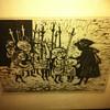 Little Worshippers - Steve Vasiliou - Original Pen and Ink