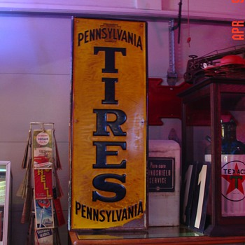 Embossed Pennsylvania Tires...Tin Sign - Signs